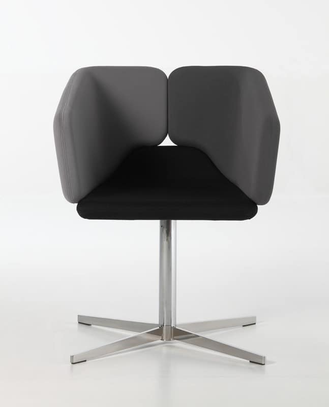 Mixx x-foot, Swivel chair, contemporary design, for residential use or hotel and restaurant