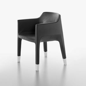 Mon Ami 1900-12, Armchair with steel base, chrome legs, for waiting room