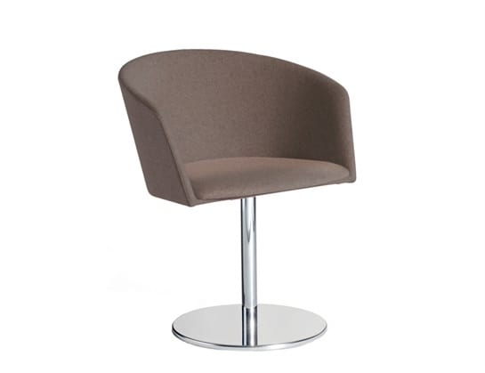 Moon Light 663DSC, Swiveling small armchair for contract use