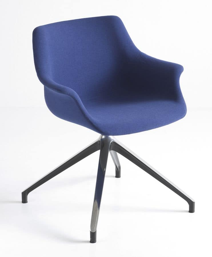 More U, Padded armchair with 4-star base
