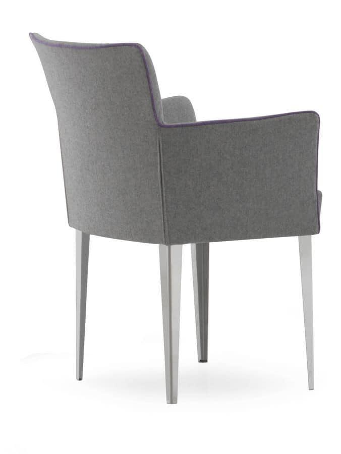 Morgana GC, Armchair upholstered in Polyurethane, flexible backrest
