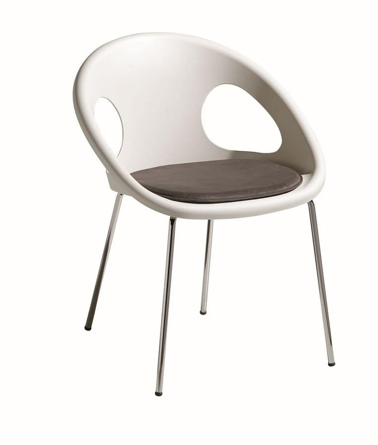 Natural Drop with cushion, Armchair with cushion ideal for bar