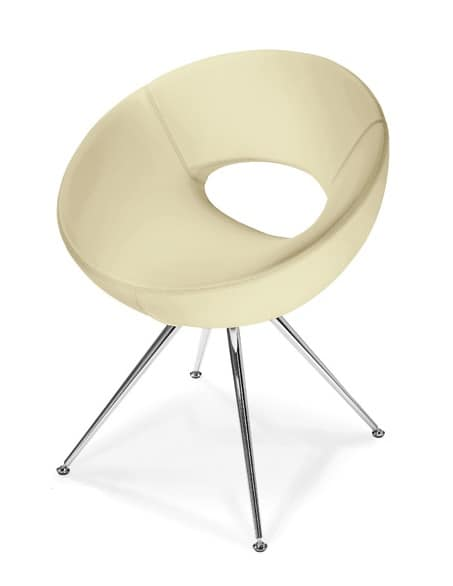 OASI 430, Armchair for waiting, available with different bases