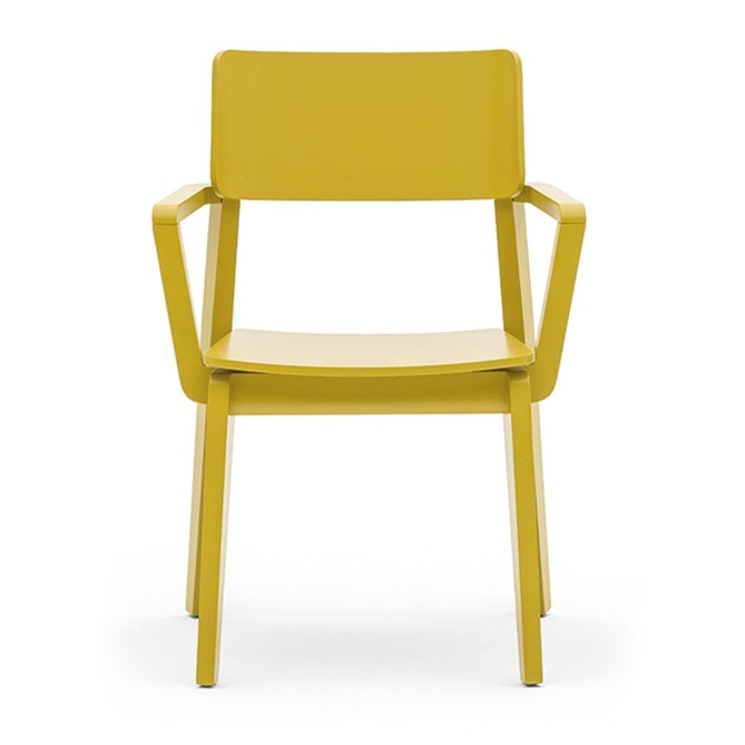 Offset 02821, Solid wood chair with armrests, in modern style
