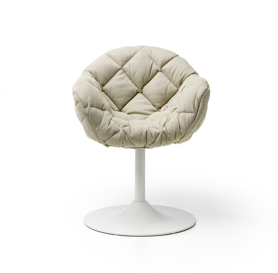 Pepper Matrix Up, Padded armchair, with round base