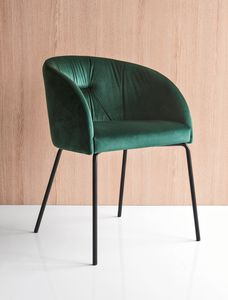 PL 1901, Armchair with upholstered polyester shell