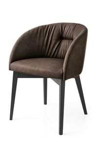 PL 1902, Modern armchair with upholstered backrest