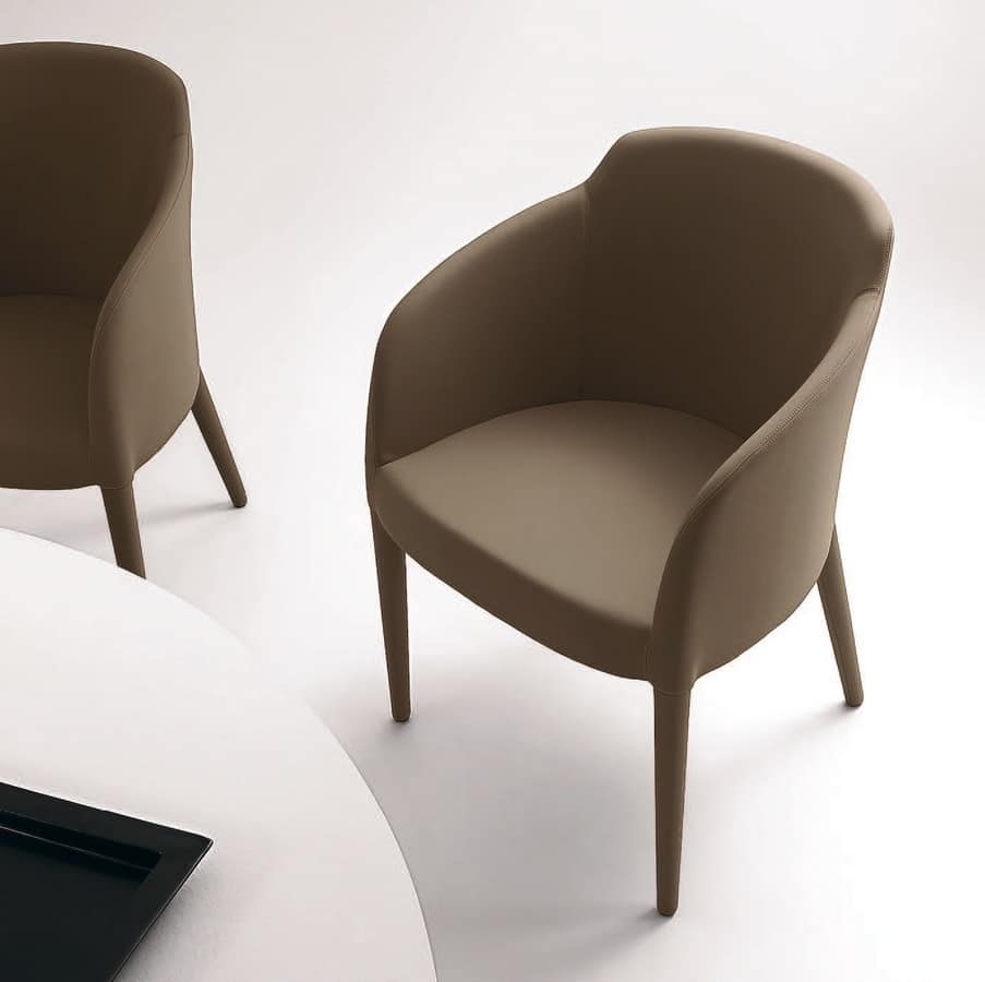 PL 5000, Armchair with wooden legs, in various colors