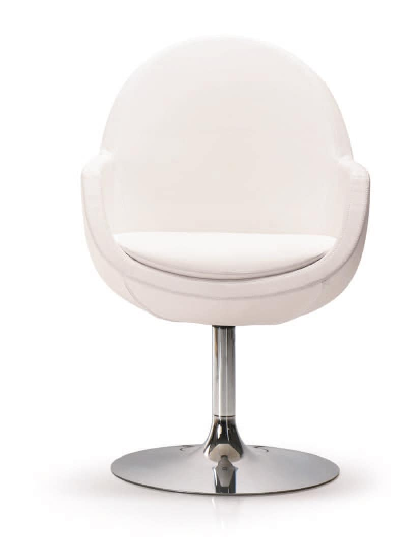 PL 5004, Steel chair, with swivel base, for office