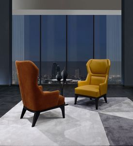 PO71 armchair, Relax armchair with high backrest