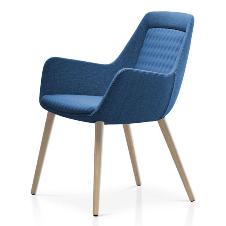 Roxy chair, Armchair with wooden base
