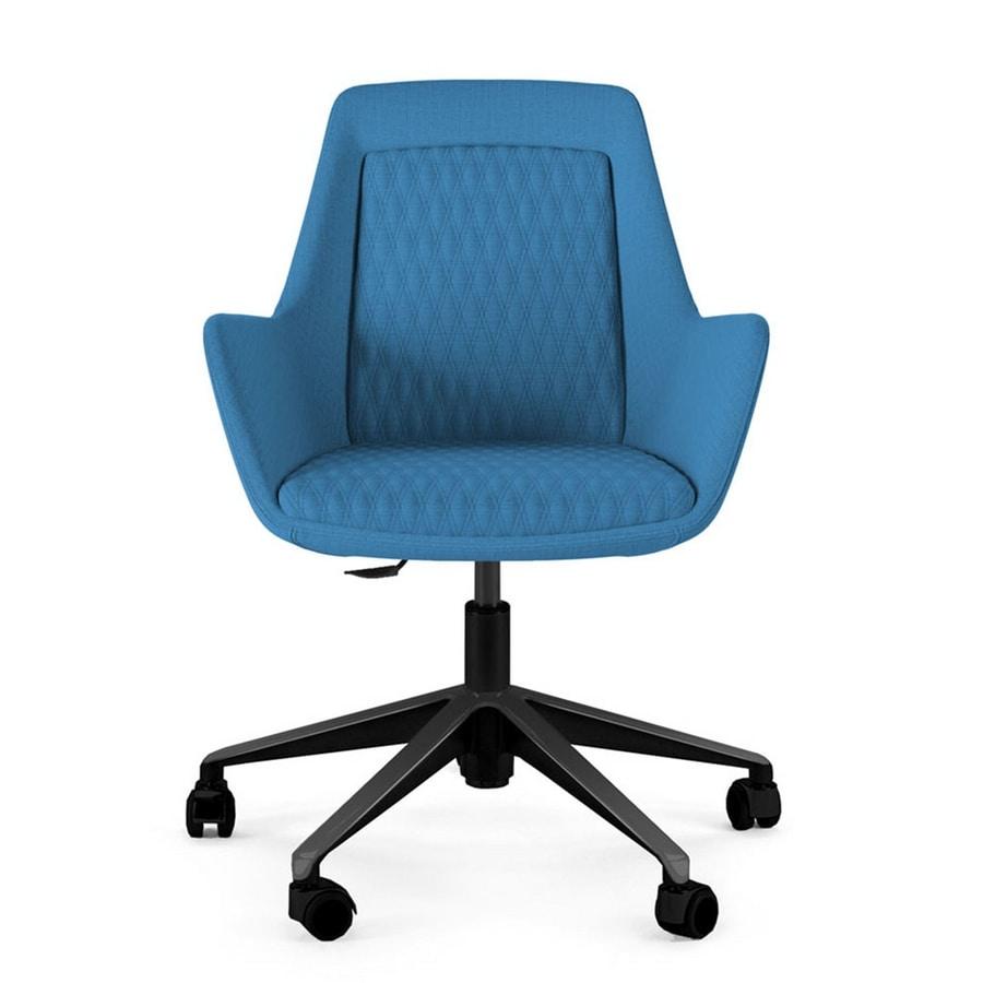 Roxy chair, Armchair with customizable metal base