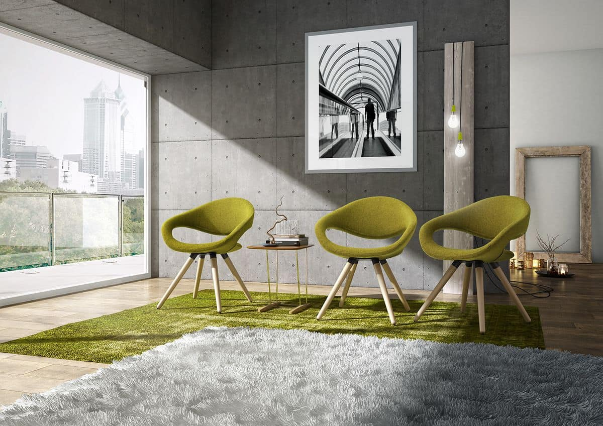 Samba 4G, Modern quilted armchair, for Meeting room