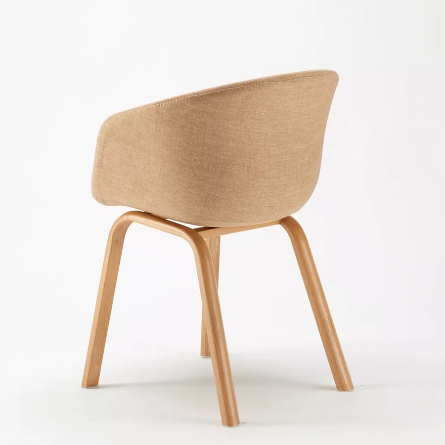 Scandinavian Dining Design Chair for Bars Offices Waiting Lounge Komoda SK697F, Comfortable padded chair