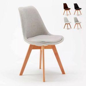 Scandinavian Dining Design Chair for Home Bars Restaurants Dexer, Chair with wood effect metal legs