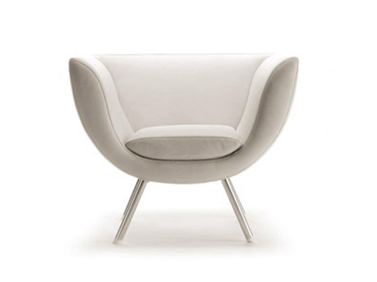 Sedia Da Camera Moderna.Swivel Armchair With Metal Base Fireproof Coating Idfdesign