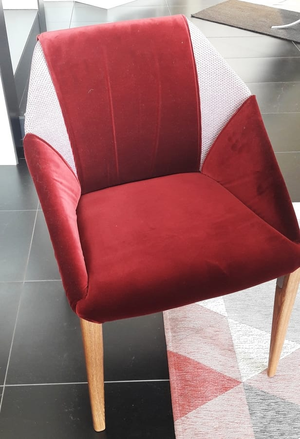 Sveva, Padded chair at outlet price