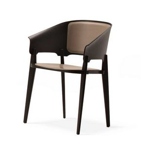 Threepiece, Chair in wood, with a refined design