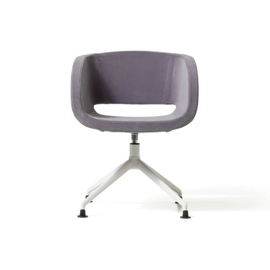 Vanity pyramid base, Modern swivel armchair with padded shell