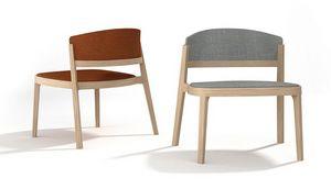 Abuela Lounge Wood, Lounge chair in beech wood