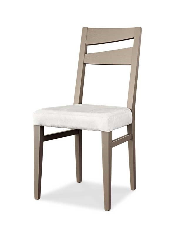 Art. 195/S, Modern dining chair, with upholstered seat