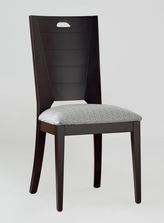 BS132S - Chair, Solid beech wood chair