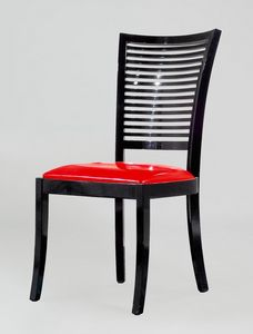 BS220S - Chair, Chair with back with horizontal slats