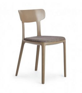 Canova, Polypropylene chair with padded seat