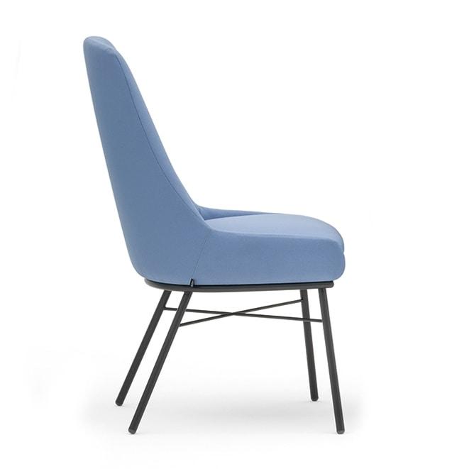 Danielle 03616, Padded metal chair