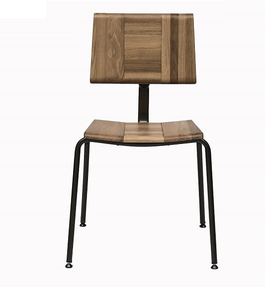 EAGLE A01, Stacking chair with solid oak seat and back