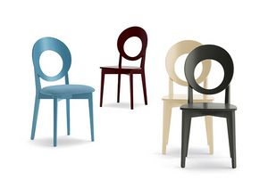 Eggy 10028, Chair with perforated round backrest