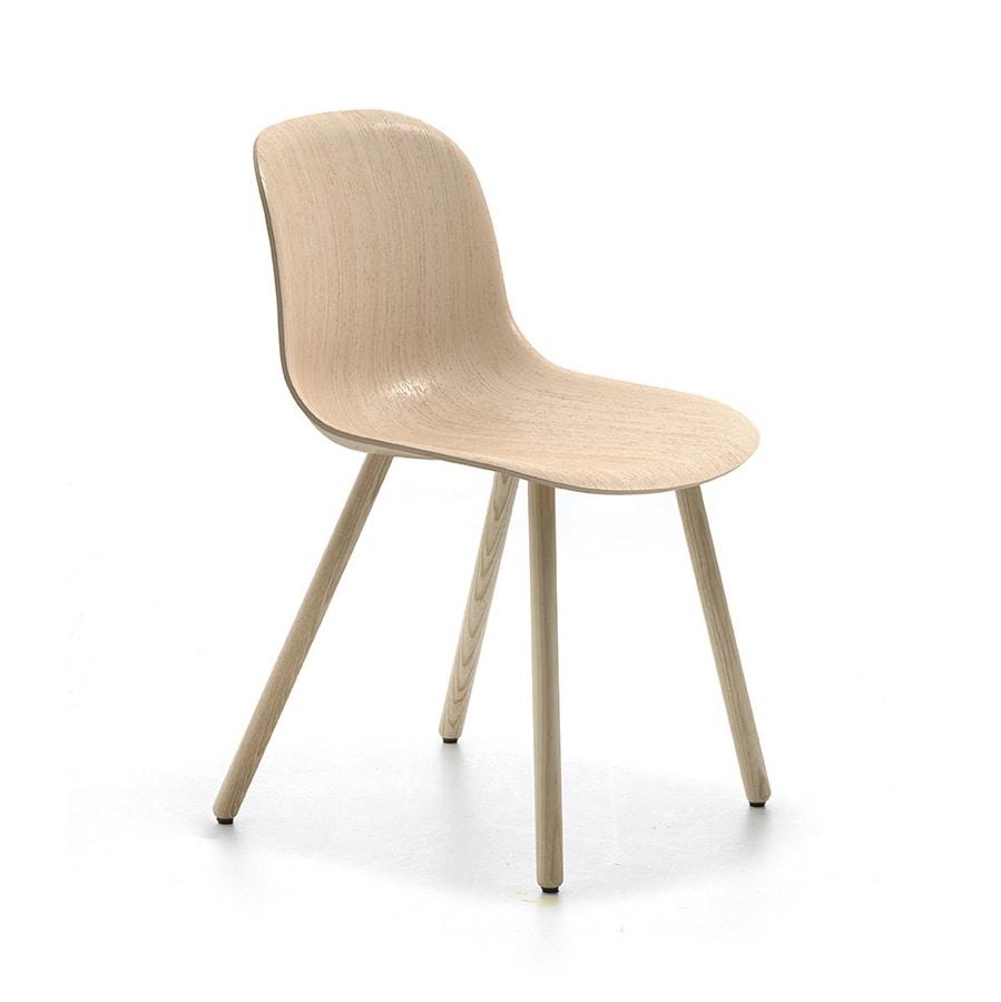 Máni Wood 4WL, Modern wooden chair
