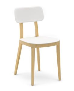Porta Venezia, Wooden chair with plastic seat