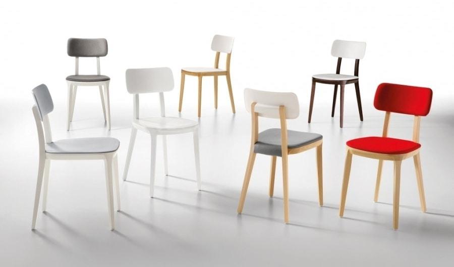 Porta Venezia, Wooden chair with plastic seat