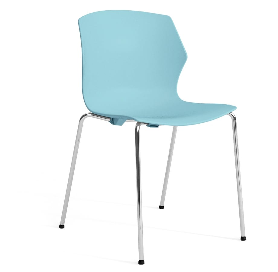 SALLY S, Plastic and metal chair with armrests