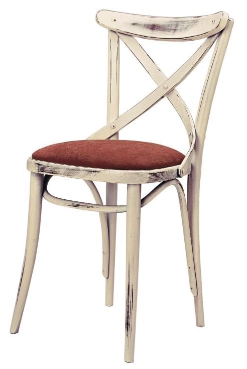 SE 431/IMB, Wooden chair with cross backrest