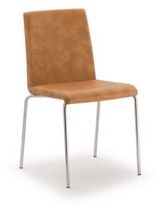 SE 510, Chair in chromed metal covered in eco-leather