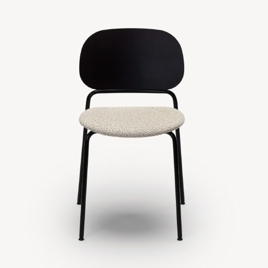 Upon, Stackable chair with metal frame