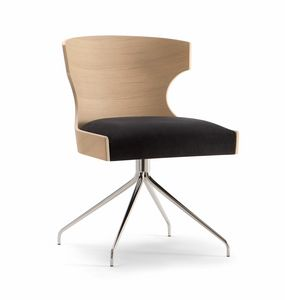 XIE SIDE CHAIR 052 S Z, Chair with spider base
