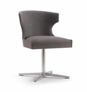XIE SIDE CHAIR 053 S X, Chair with metal cross base