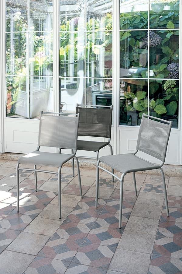 YUPPIE DU SE177, Kitchen chair with plastic net seat