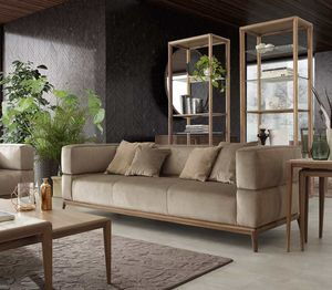 Alba sofa, Three seater sofa with woven fabric upholstery