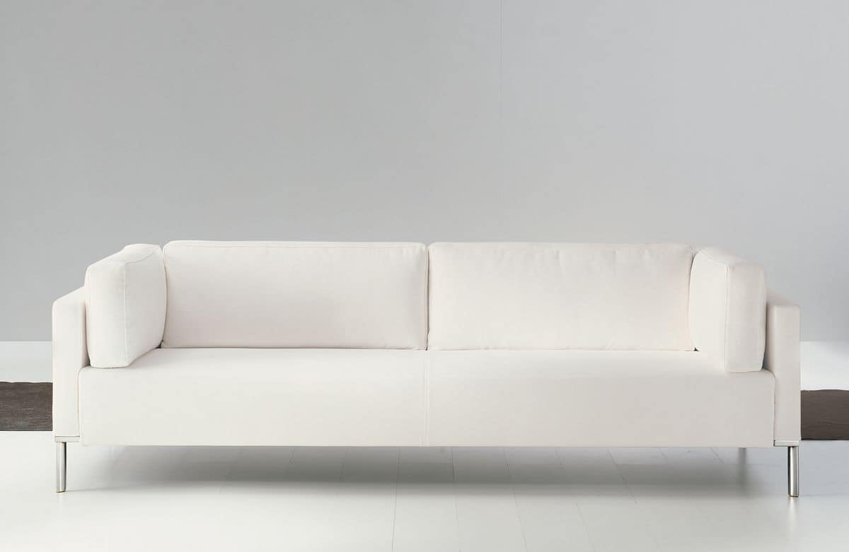 Albi', Elegant wooden sofa, covered with acrylic fibers