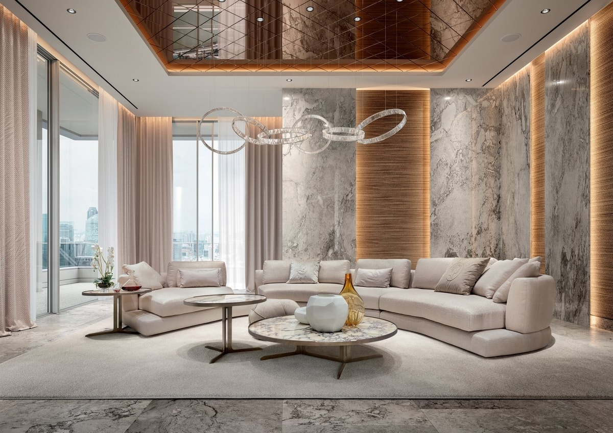 Arabesque, Modular sofa, with a modern design