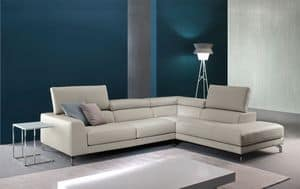 Arena, Leather sofa with relax mechanism, for modern living rooms