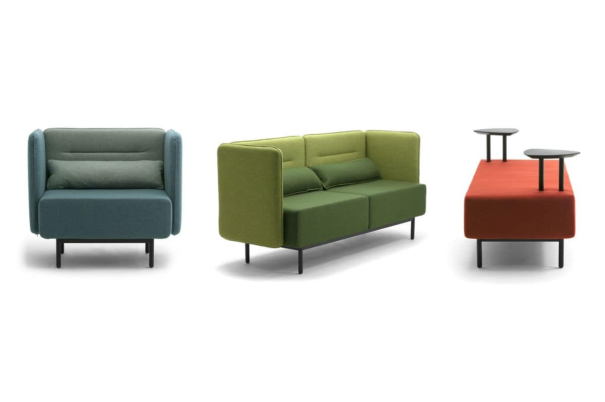Around, Modern sofas suited for waiting areas