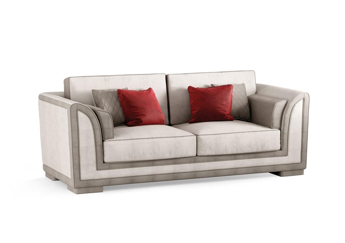 ART. 3335, Three-seater sofa in velvet