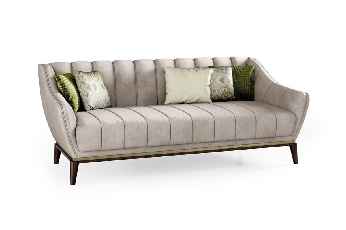 ART. 3340, Contemporary sofa, with Eucalyptus base