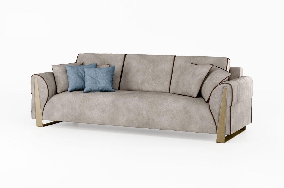 ART. 3422, Sofa with bronzed legs