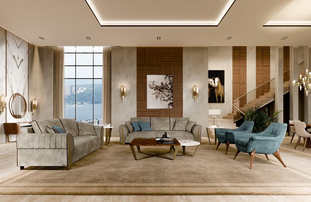 ART. 3423, Elegant two-seater sofa
